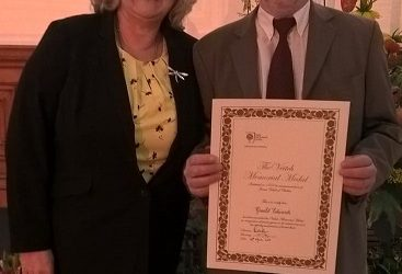 Mr Gerald (Gerry) Edwards is awarded the Veitch Memorial Medal