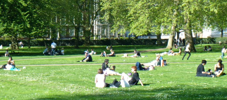 View across Grosvenor Square