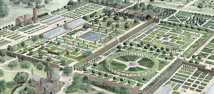 Artwork of the Walled Garden by Tom Stuart-Smith