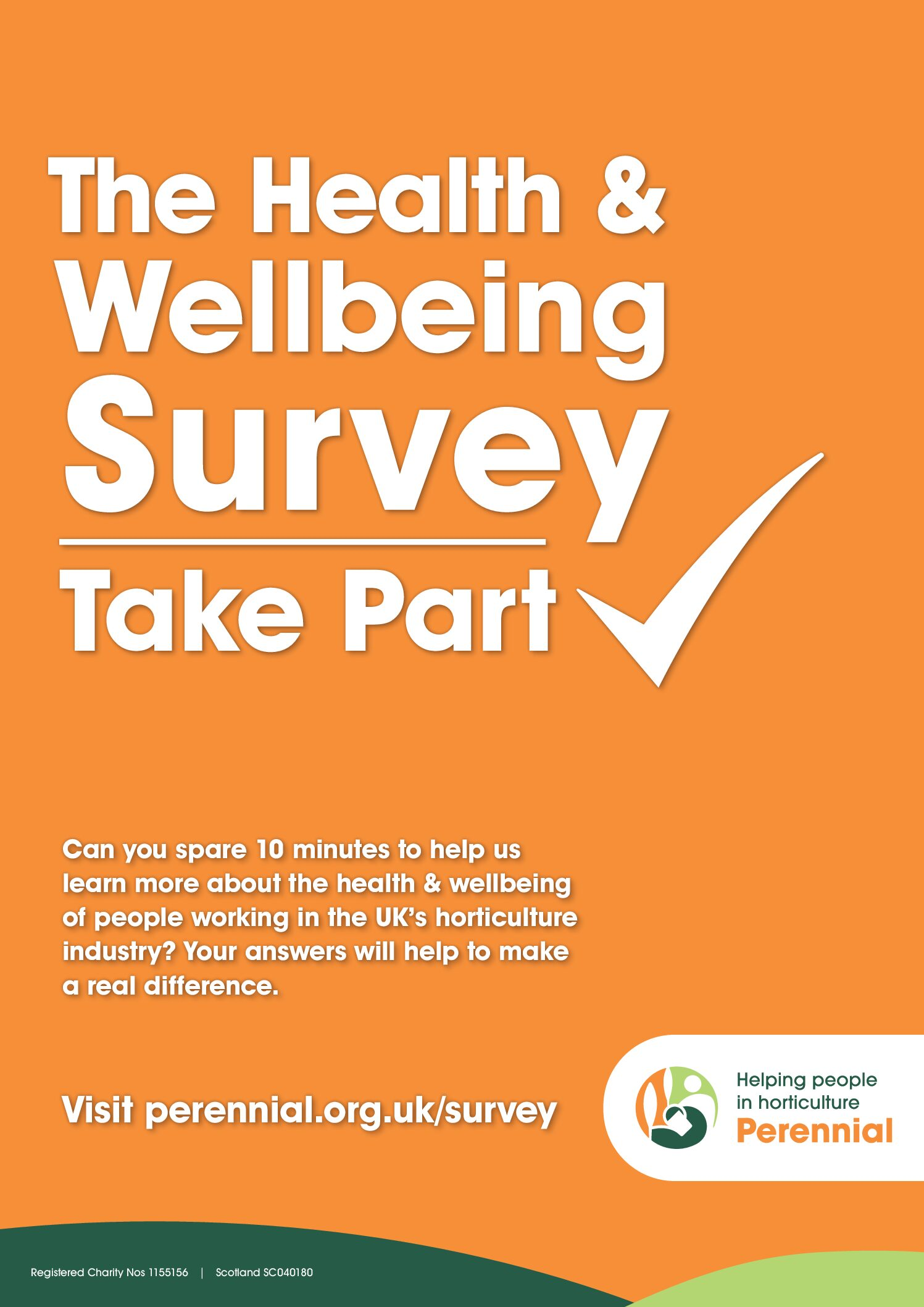 Biggest Health and Wellbeing Survey for UK horticulture industry launched